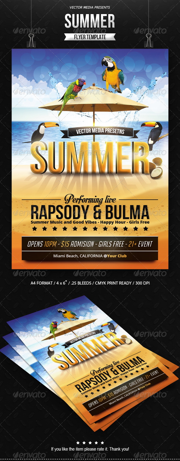 GraphicRiver Summer Flyer 7845429