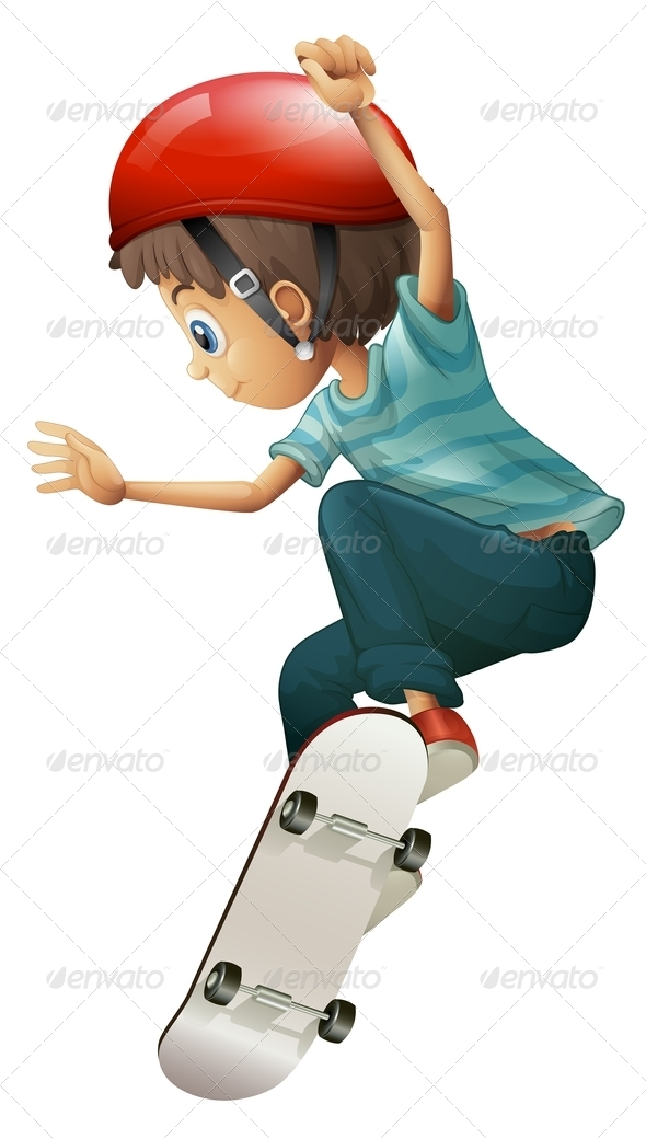 GraphicRiver Skateboarding Boy 7845432