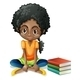 Girl sitting with books - GraphicRiver Item for Sale
