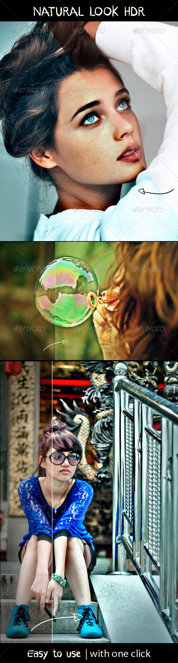 GraphicRiver Natural look HDR PS Action 7845554