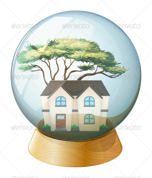 GraphicRiver A House Inside Globe 7845708