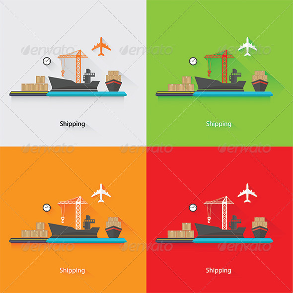 GraphicRiver Shipping Concept 7845766