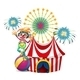 Clown with circus tent - GraphicRiver Item for Sale