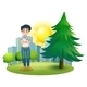 Man standing near pine tree - GraphicRiver Item for Sale