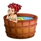 Happy mermaid in bathtub - GraphicRiver Item for Sale