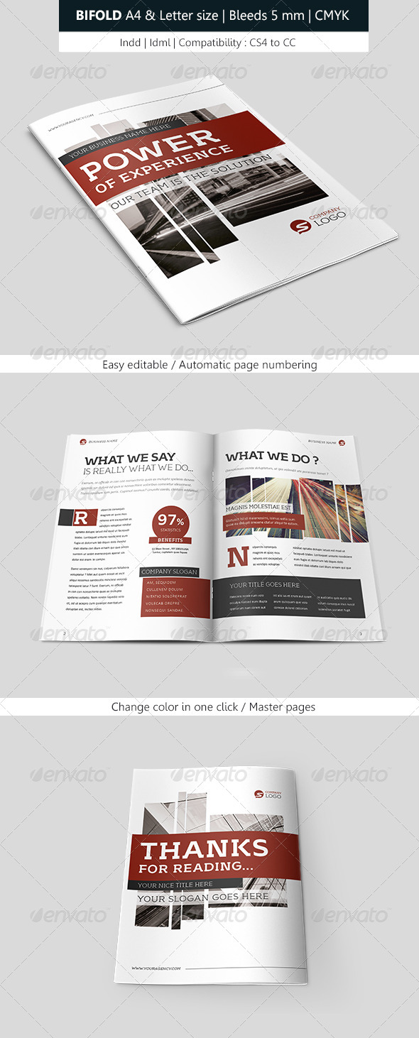 GraphicRiver Creative Bifold Brochure Indesign Template 7846144