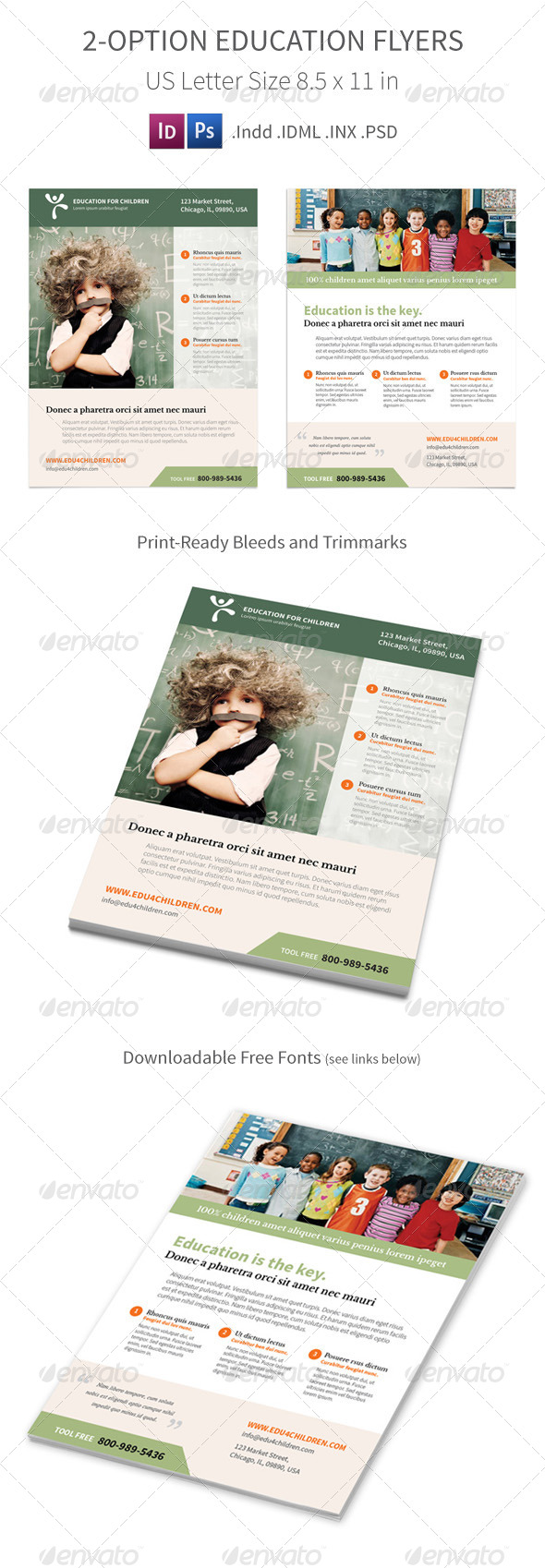 GraphicRiver Education Flyers 2 Options 7846246