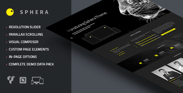 ThemeForest Sphera One Page Parallax WordPress Theme 7757783