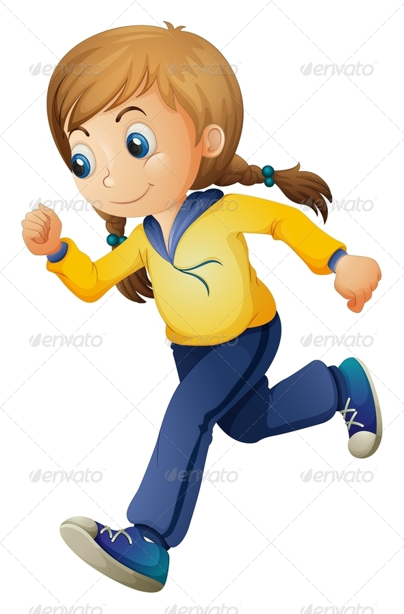 GraphicRiver Jogging Girl 7846247