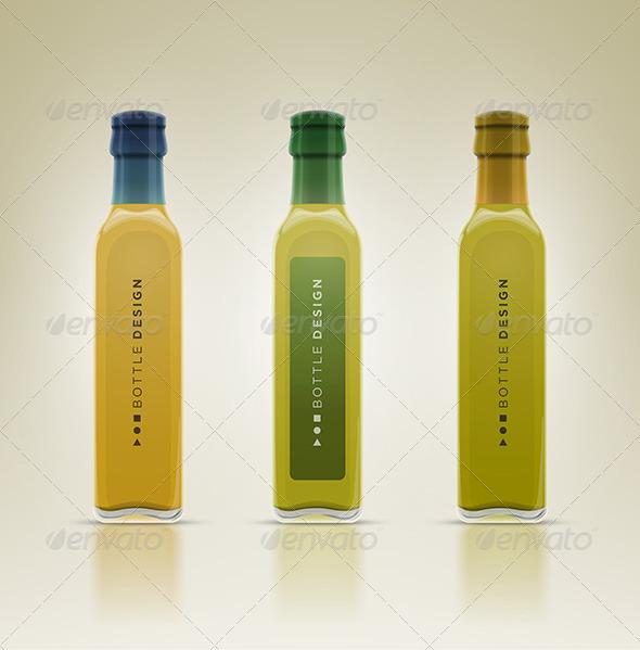 GraphicRiver Glass Olive Oil Bottle Set 7846749