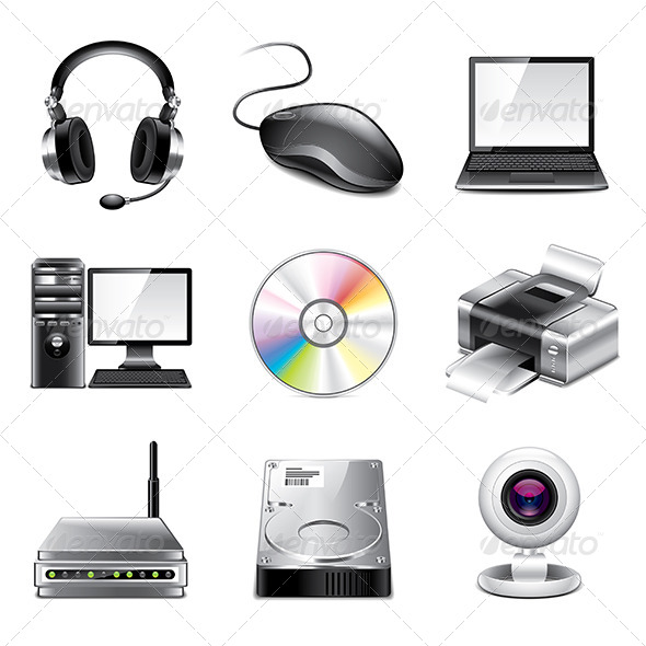 GraphicRiver Computer Icons Photo-Realistic Set 7846783