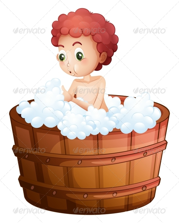 GraphicRiver Boy taking a bath 7846854