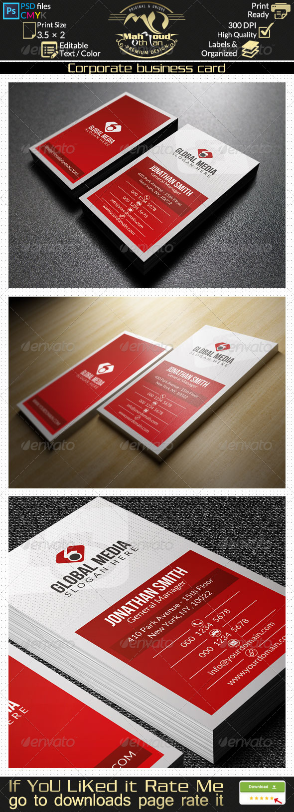 GraphicRiver Corporate Business Card 28 7819823