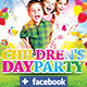 Children's or Kids Party Flyer Facebook Template  - GraphicRiver Item for Sale