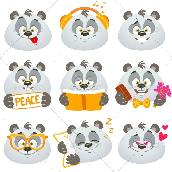 GraphicRiver Emotions Panda 7847912