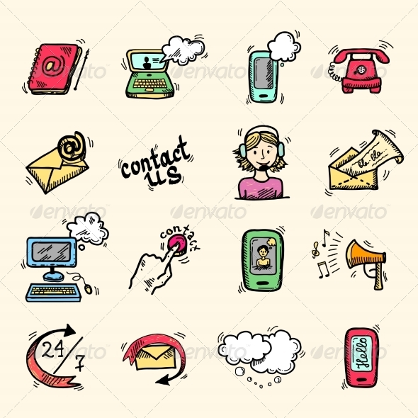 GraphicRiver Contact Us Icons Sketch 7849112