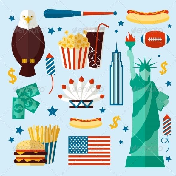 GraphicRiver New York USA Set 7849129