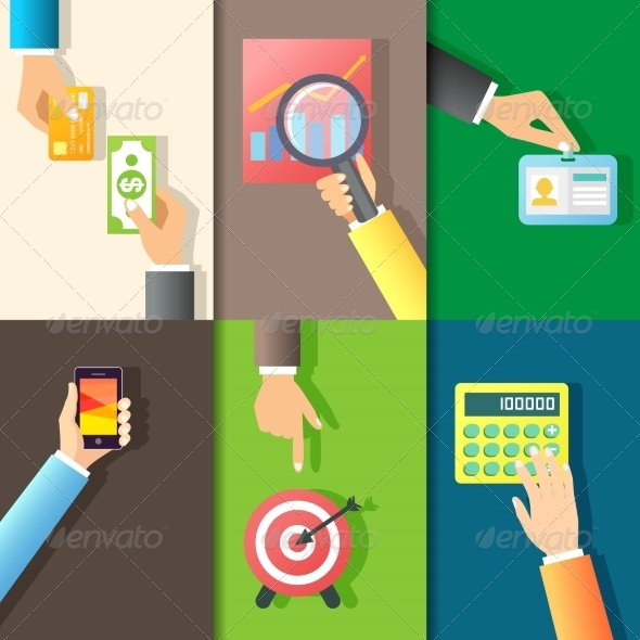 GraphicRiver Business Hands Icons 7849330