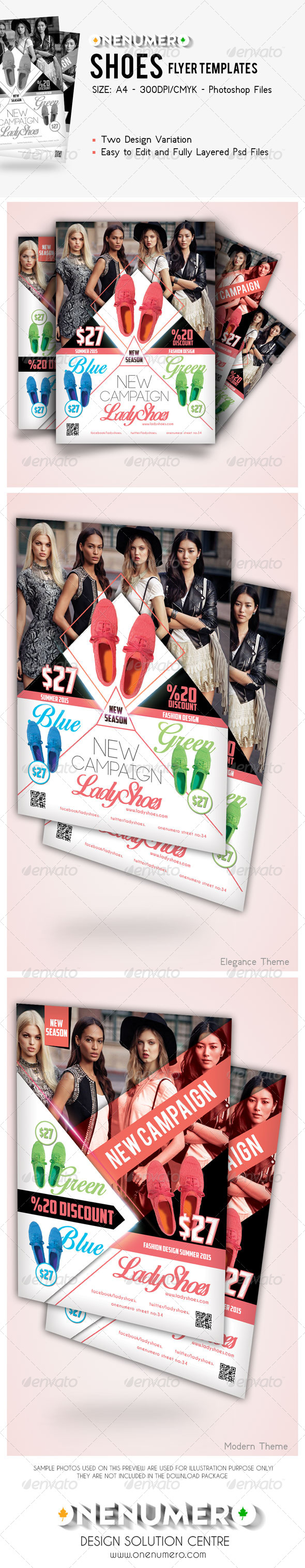 GraphicRiver Shoes Flyer Templates 7827339