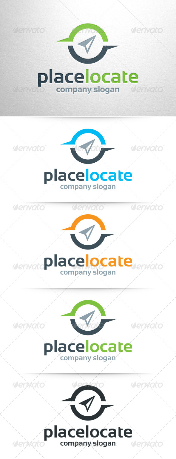 GraphicRiver Place Locate Logo Template 7849406