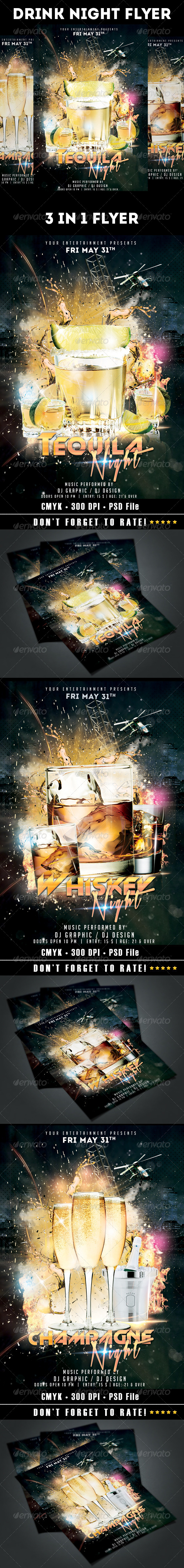 GraphicRiver Drink Night Flyer 7822313