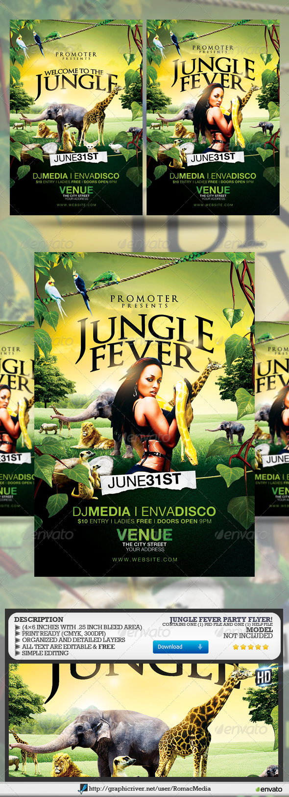 GraphicRiver Jungle Fever 7849597