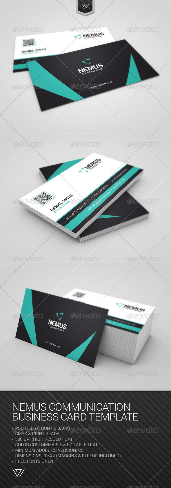 GraphicRiver Nemus Communication Business Card 7829457