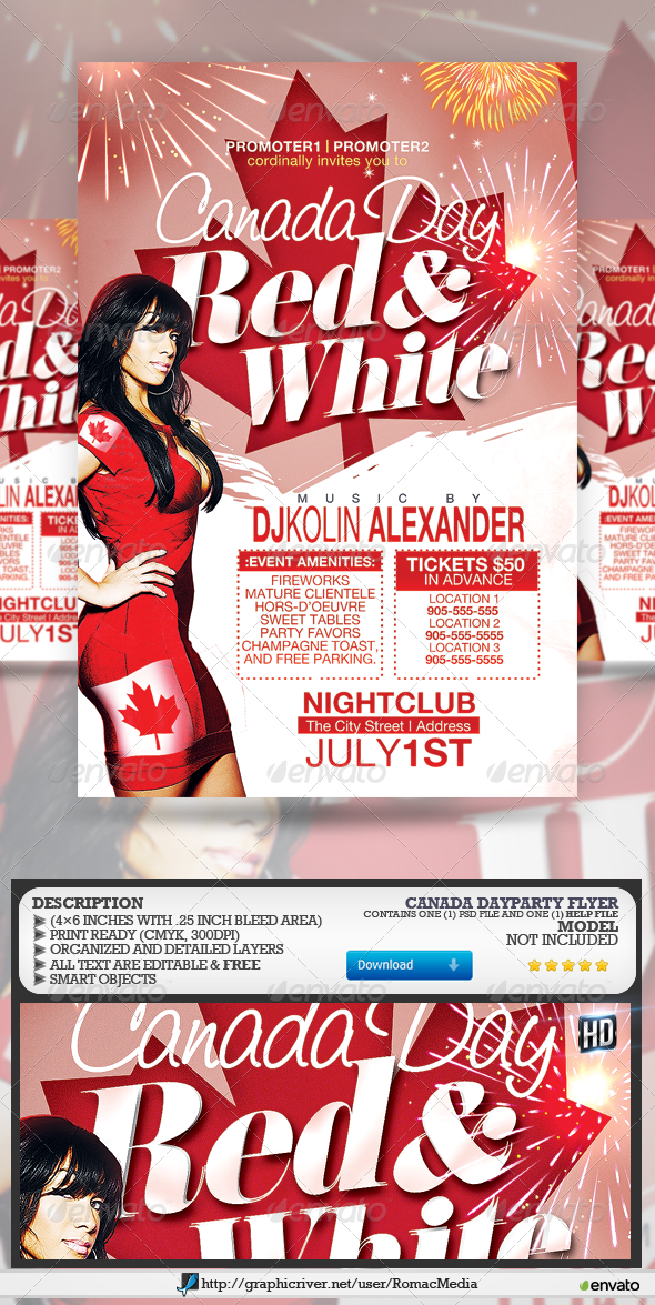 GraphicRiver Canada Day Party 7851196