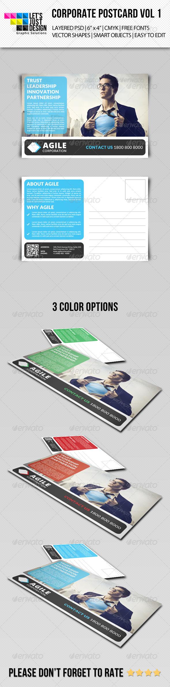 GraphicRiver Corporate Postcard Template Vol 1 7851198