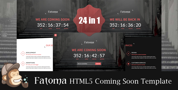 ThemeForest Fatoma Coming Soon Template 7819733