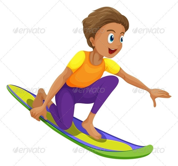 GraphicRiver A boy surfing 7851709