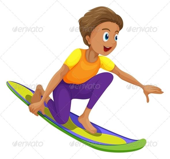 GraphicRiver A boy surfing 7851709