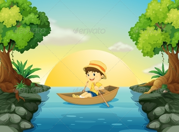 GraphicRiver A boy boating 7851745