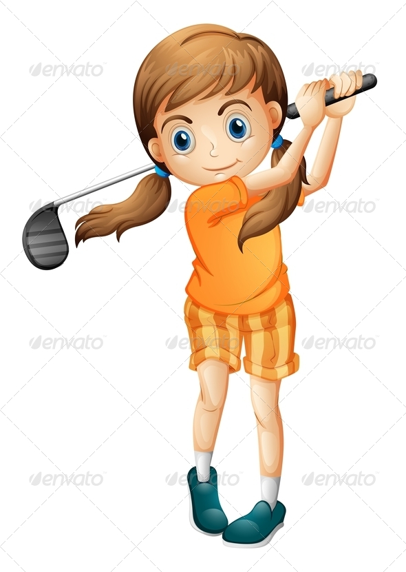GraphicRiver A young golf player 7851746