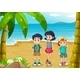 Children strolling at the beach - GraphicRiver Item for Sale
