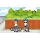 Two young bikers on the street - GraphicRiver Item for Sale