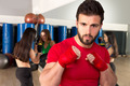 Boxing aerobox man portrait in fitness gym - PhotoDune Item for Sale