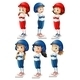 Six baseball players - GraphicRiver Item for Sale