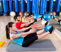 Pilates softball the teaser group exercise at gym - PhotoDune Item for Sale