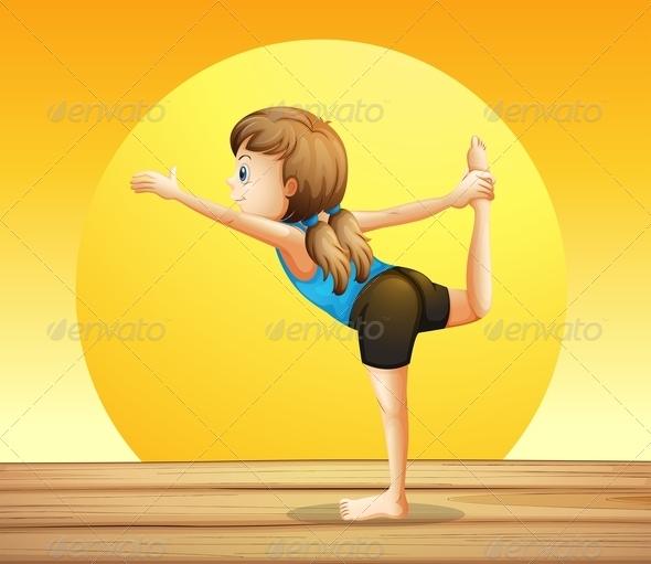 GraphicRiver Young woman doing yoga 7852505