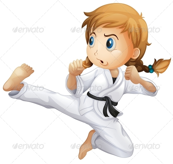 GraphicRiver Girl doing karate 7852705