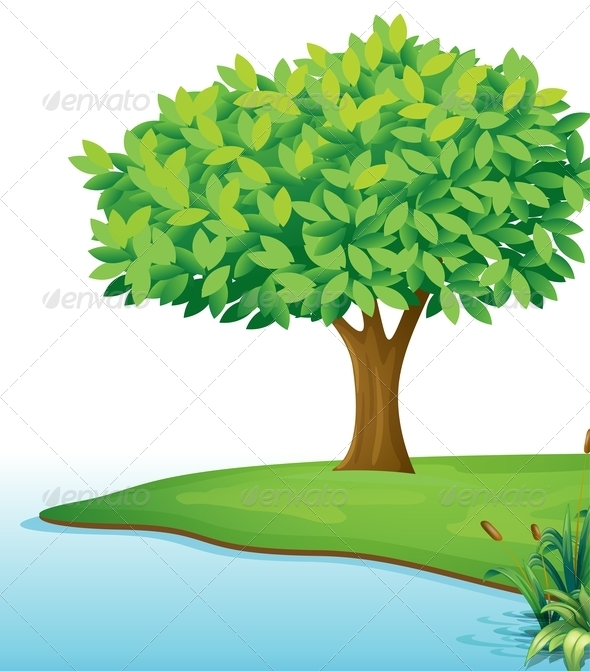 GraphicRiver Tree near river 7852746