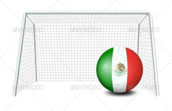 GraphicRiver Soccer ball with the flag of Mexico 7852747