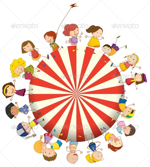 GraphicRiver Big circle of kids 7852773