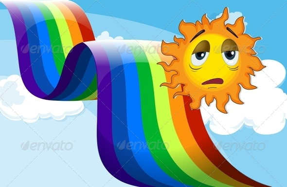 GraphicRiver Rainbow beside the sad sun 7852780