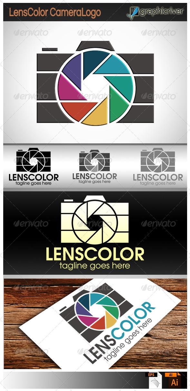 GraphicRiver Lens Color Camera Logo 7819677