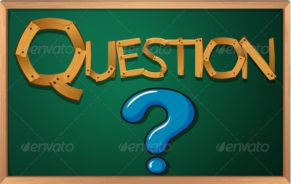 GraphicRiver Blackboard with Question Mark 7853309