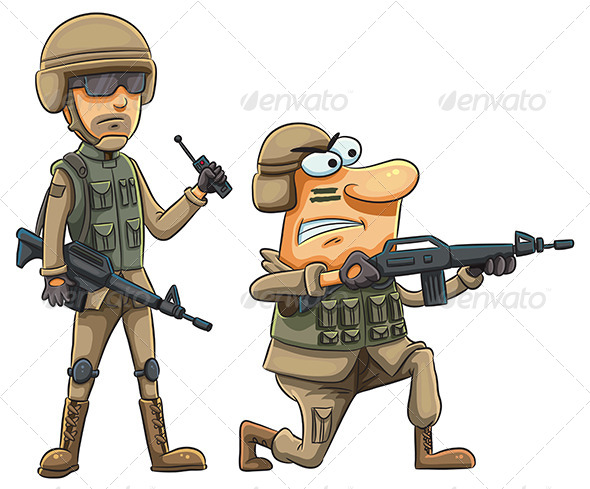 GraphicRiver Army Soldiers 7853520