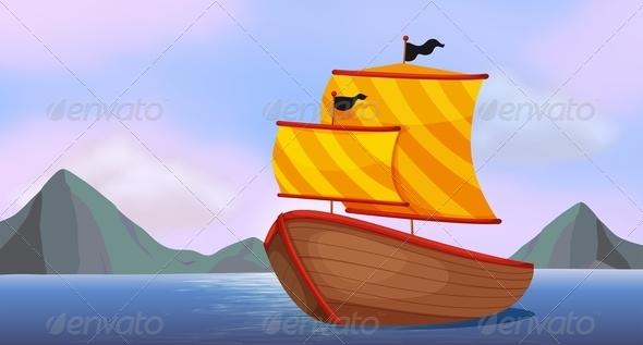 GraphicRiver A ship on the ocean 7853536