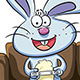 Bunny Playing Video Games - GraphicRiver Item for Sale